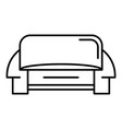modern sofa icon outline style vector image