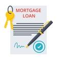 Mortgage loan Concept vector image vector image