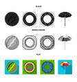 multicolored swimming circle black flat vector image