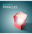 Open gift box with light vector image vector image