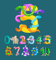 ordinal number five for teaching children counting vector image vector image