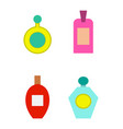 perfumes collection poster vector image vector image