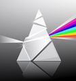 Prism Triangle Transparent Glass Shape with vector image