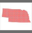red dot map of nebraska vector image vector image