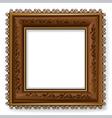 retro vintage wooden frame vector image vector image