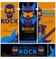 rock music festival tickets vector image