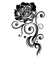 Rose flower love vector image vector image