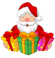 Santa with christmas presents vector image
