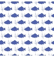 Seamless background with blue fish vector image vector image