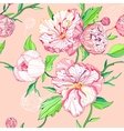 seamless peony background vector image vector image