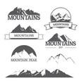 set mountain logos on white vector image vector image
