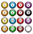 Set of Billiard Balls vector image vector image