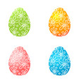 set of colorful easter eggs easter eggs icons vector image