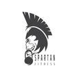 skull spartan warrior fitness design template vector image vector image