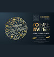 spanish new year party invitation for holiday vector image vector image