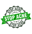 stop acne stamp sign seal vector image vector image