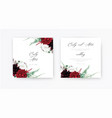 stylish floral boho wedding invite save date card vector image vector image
