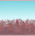sunset city silhouette landscape city landscape vector image