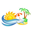 symbol for travel and recreation vector image