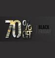 typography black friday big sale banner vector image