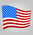 united states flag with shadow on a gray vector image