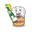 with beer easter cake mascot cartoon vector image vector image