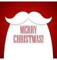 Christmas card with a beard and mustache Santa vector image