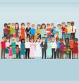 set of celebrating family holidays people vector image
