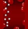 balloon and light bulb on red background vector image