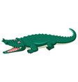 a crocodile on white background vector image vector image
