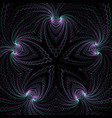 abstract fractal geometry decoration vector image vector image