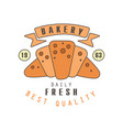 bakery daily fresh best quality logo template vector image vector image
