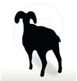 big horn sheep silhouette in face upward pose vector image vector image