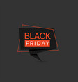 black friday red label template vector image
