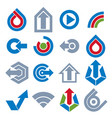 blue app buttons collection of arrows direction vector image