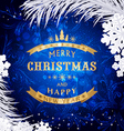 Blue Christmas background with silver snowflakesan vector image