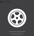 car wheel premium icon vector image vector image