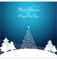 Christmas background landscape vector image