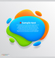 Color blot banner vector image