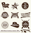 Cowboy Labels vector image