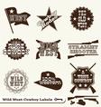 Cowboy Labels vector image vector image