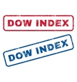 Dow Index Rubber Stamps