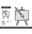 Easel line icon vector image