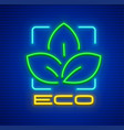 eco symbol icon with green vector image vector image