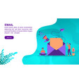 email concept with character template for banner vector image