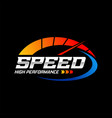 fast and speed logo template vector image vector image