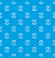fast mail pattern seamless blue vector image vector image