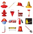 Fire Department icons set cartoon style vector image vector image