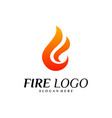 fire logo design concepts flame logo template vector image