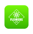 flower plant icon green vector image vector image